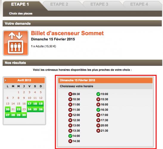 Expo Billet d ascenseur Sommet   Tour Eiffel  Paris