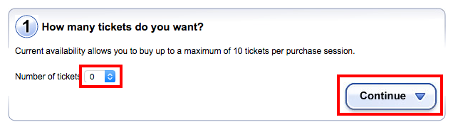 Ticketmaster.es   Ticket sale   Purchase   Step 1   Booking