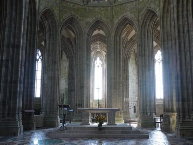モンサンミッシェルの修道院