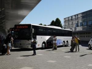 モンサンミッシェル行きのバス乗り場