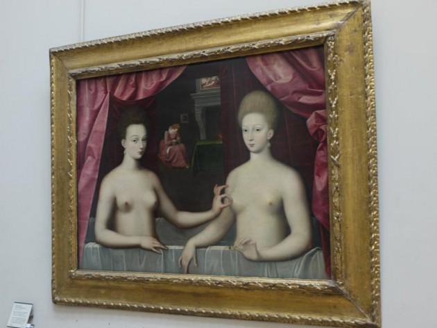 浴槽のガブリエル・デストレとその妹