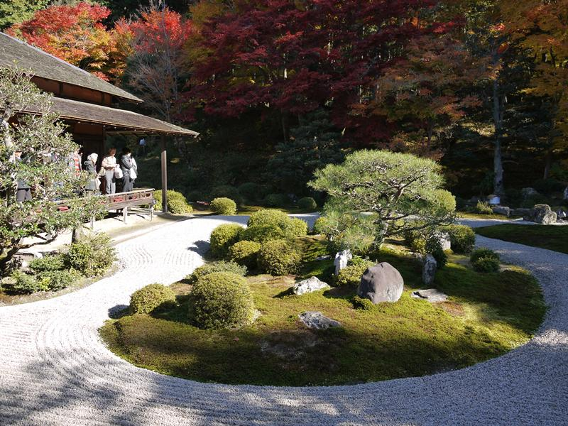 曼珠院の中庭