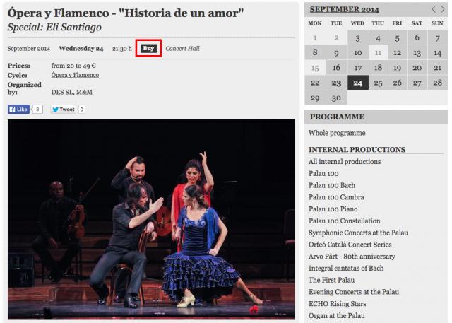 Ópera y Flamenco    Historia de un amor    Palau de la Música Catalana