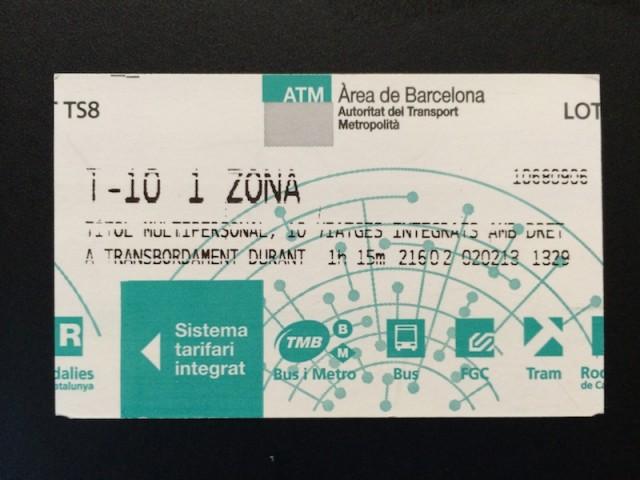 TMB10回券(T-10)
