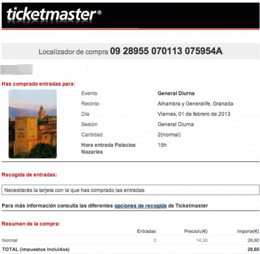 Confirmación compra de entradas para General Diurna en ticketmaster.es   mika.seino gmail.com   Gmail