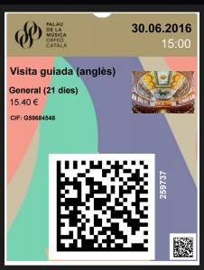 カタルーニャ音楽堂のモバイルチケット