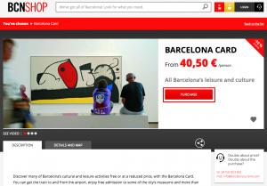 Barcelona Card BCNSHOP