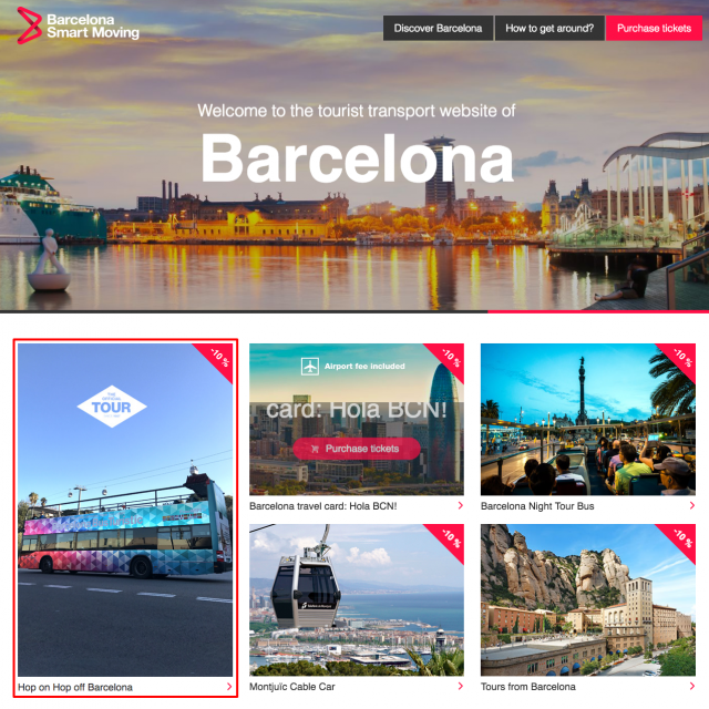 Tourist Transport in Barcelona   Barcelona Smart Moving